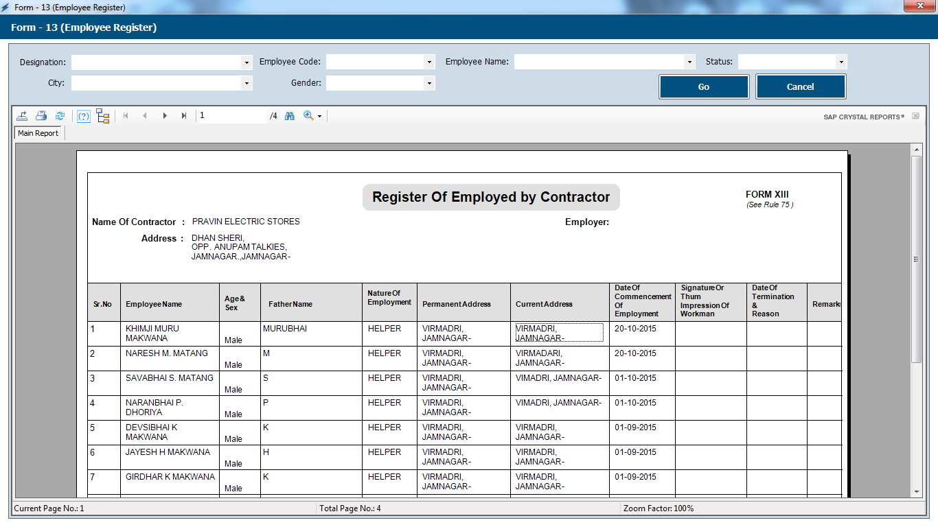 Payroll Management System Software Employee Register