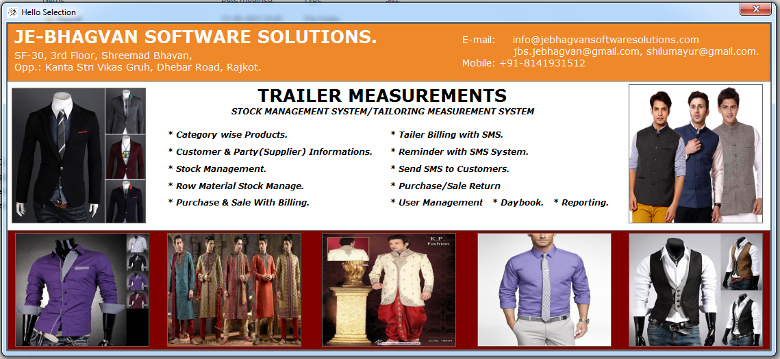Tailoring Management System Software